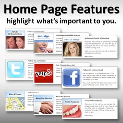 Home page features highlight what's most important to you.