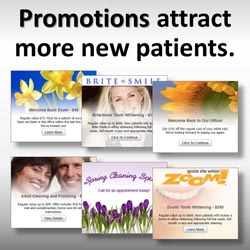 Promotions attract more new patients.