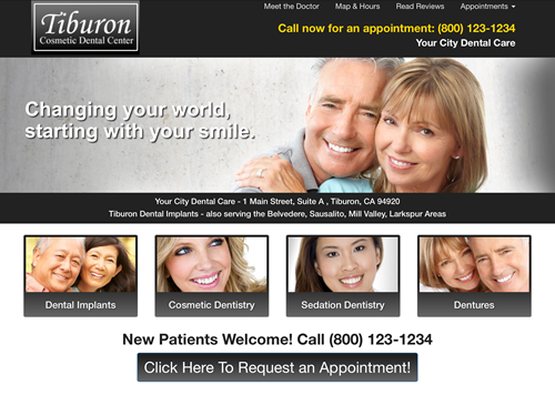 Dental Websites - Sample Site 3