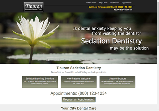 Dental Websites - Sample Site 2